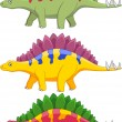 Stegosaurus Cartoon - Stock Vector