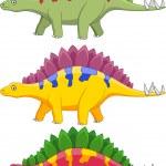 Stegosaurus Cartoon — Stock Vector #10350373