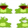 Funy Frog Cartoon — Stock Vector