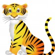Tiger Cartoon - Stock Vector