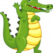 Funny Crocodile — Vector de stock