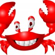 Stock Vector: Funny crab cartoon