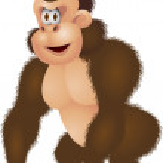 Gorilla cartoon — Stock Vector