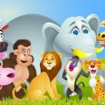 Animal Cartoon — Stock Vector