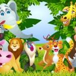 Animal cartoon group — Stock Vector