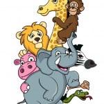 動物漫画 — ストックベクタ