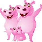 Hippo Family — Stock Vector #10353627