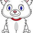 Royalty-Free Stock Vector Image: Funny white cat
