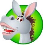 Funny Donkey Cartoon — Stock Vector