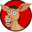 Funy Donkey Cartoon — Stock Vector