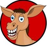 Funy Donkey Cartoon — Stock Vector #10356739