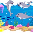 Funny dolphin cartoon — Stock Vector #10356917