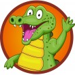Crocodile cartoon — Stock Vector