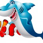 Shark with clown fish — Stock Vector #10357306