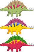 Stegosaurus Cartoon — 图库矢量图片