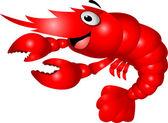 Shrimp cartoon — Stock Vector