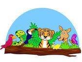 Hayvan karikatür — Stok Vektör