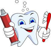 Tooth cartoon character — Stock Vector