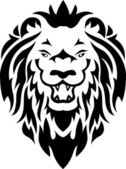 Lion tribal tattoo — Stock Vector