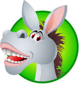 Funny Donkey Cartoon — Wektor stockowy