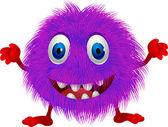 Hairy purple cartoon — Stock Vector