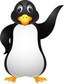 Dessin animé pingouin — Vecteur