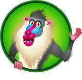 Baboon Cartoon — Stock Vector