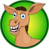 Donkey Cartoon — Stock Vector