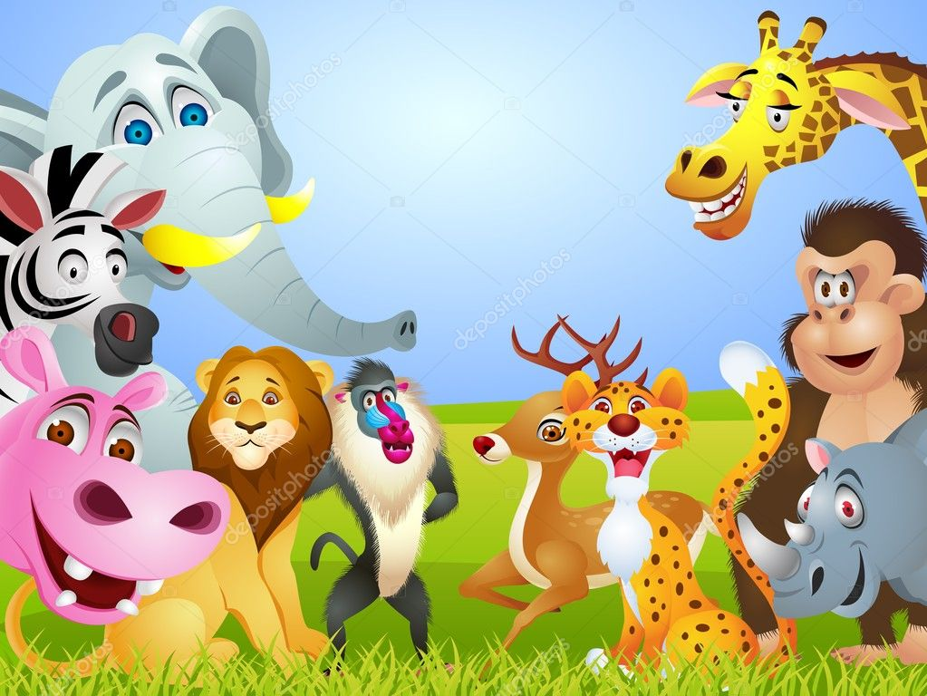Gruppo di animali cartoon — vettoriali stock idesign