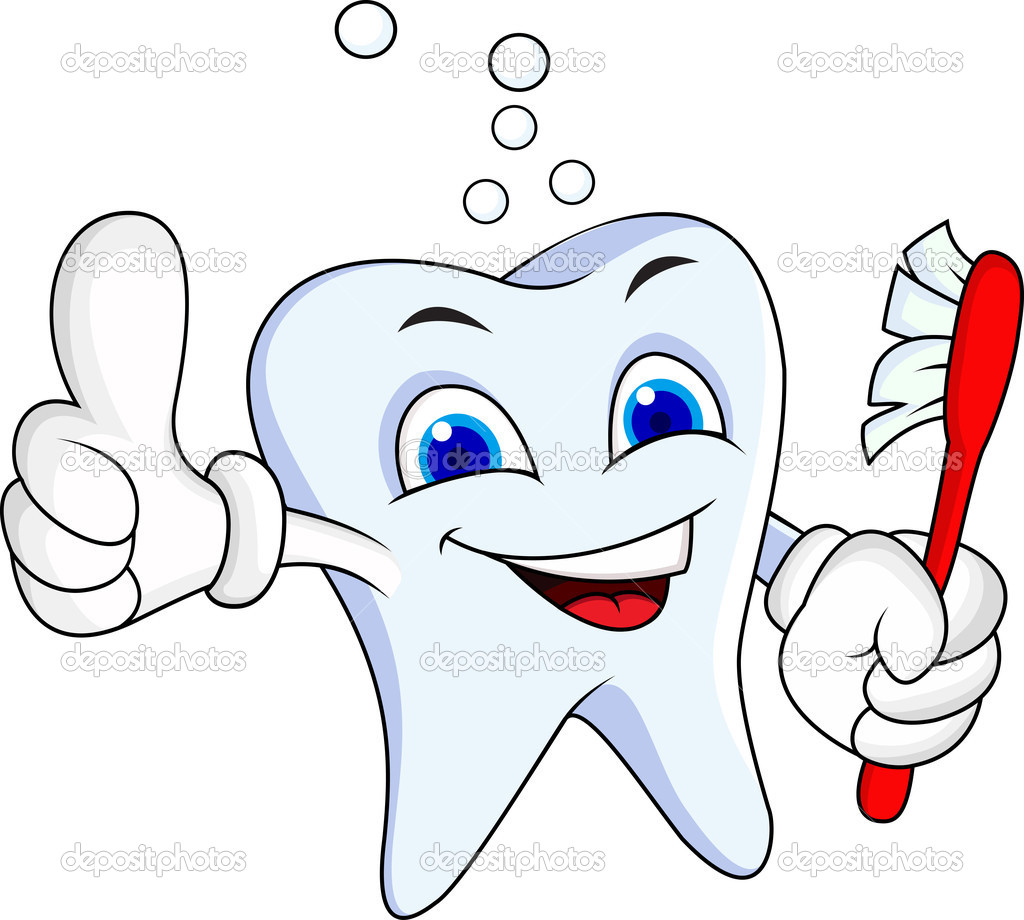 1 Toothed Cartoon Characters : Tooth cartoon character — stock vector idesign