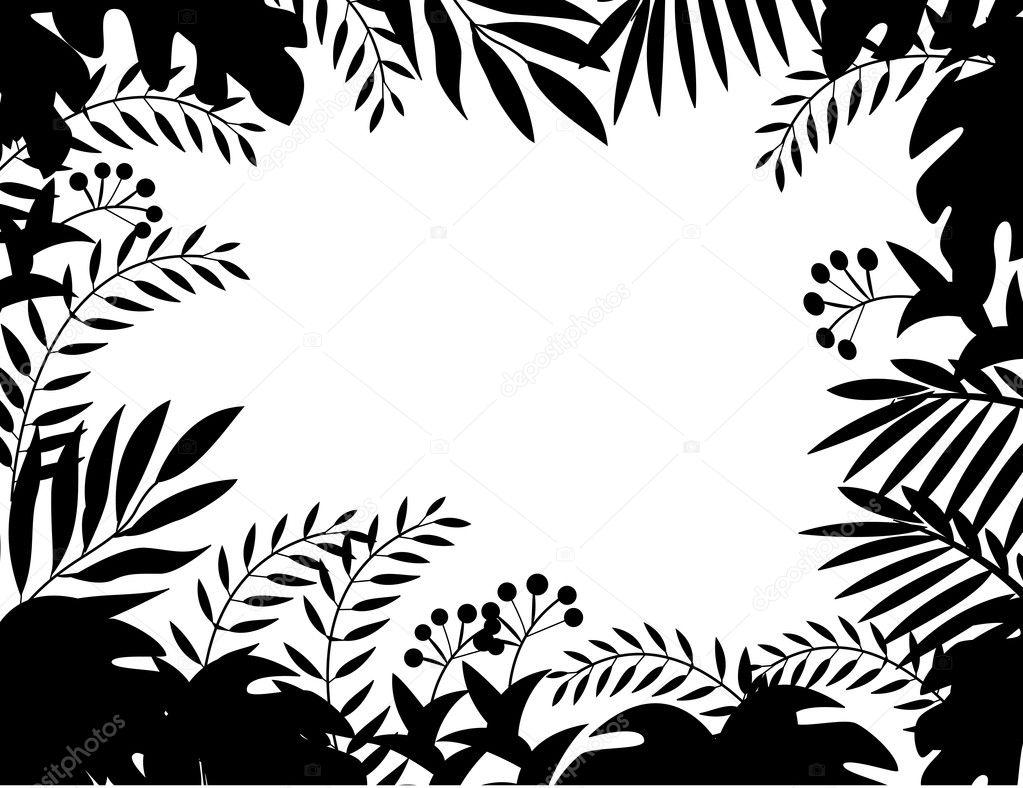 Jungle Silhouette Clip Art : 動物 イラスト シルエット : イラスト