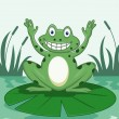 Funny Frog cartoon — Stock Vector