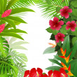 Stock Vector: Beautiful tropical forest background