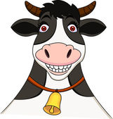 Cow cartoon — Vector de stock