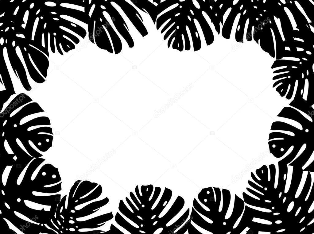 Vector illustration of tropical leaf backgound  Stock Vector #10368385