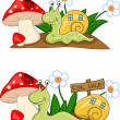 Snail Cartoon — Stock Vector