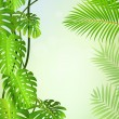 Tropical leaf background - Stock Vector