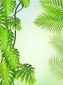 Tropical leaf background — 图库矢量图片
