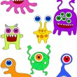 Monster Cartoon - Stock vektor
