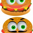 Burger cartoon character — Stock Vector #10661514