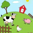 Farm Animal — Vector de stock #10661532