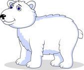 Dibujos animados de oso polar — Vector de stock
