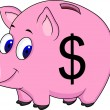 Stock Vector: Pig bank
