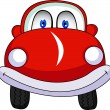 Vettoriale Stock : Funny Red Car Cartoon