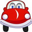 Stock Vector: Funny Red Car Cartoon