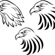 Eagle head tattoo - Stock Vector
