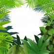 Tropical leaf background — Stock Vector #10673709