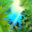 Tropical leaf background — Stock Vector #10673971