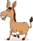 Smiling donkey cartoon — Stock Vector