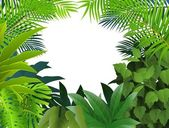 Tropical leaf background — 图库矢量图片
